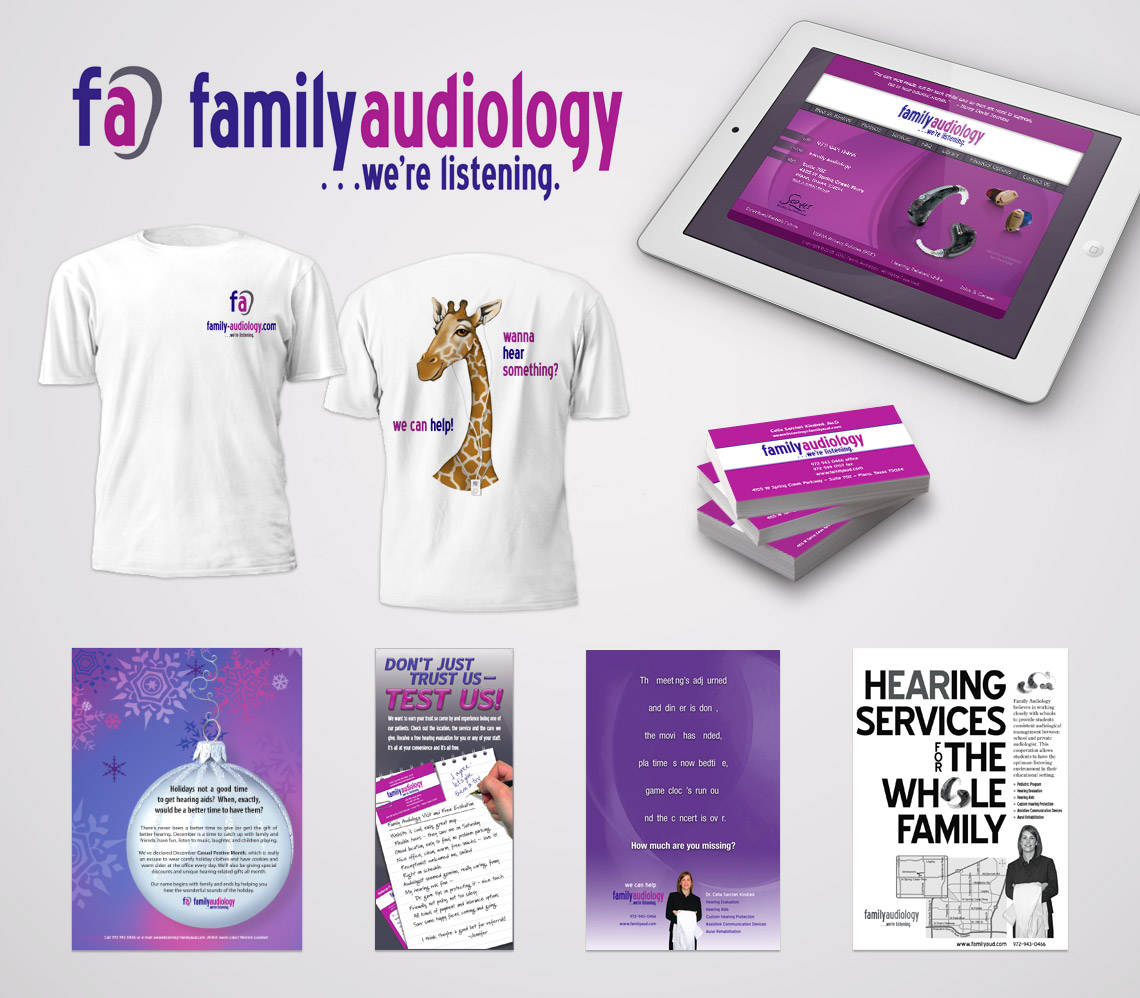 Logo and Responsive Web Site for Family Audiology