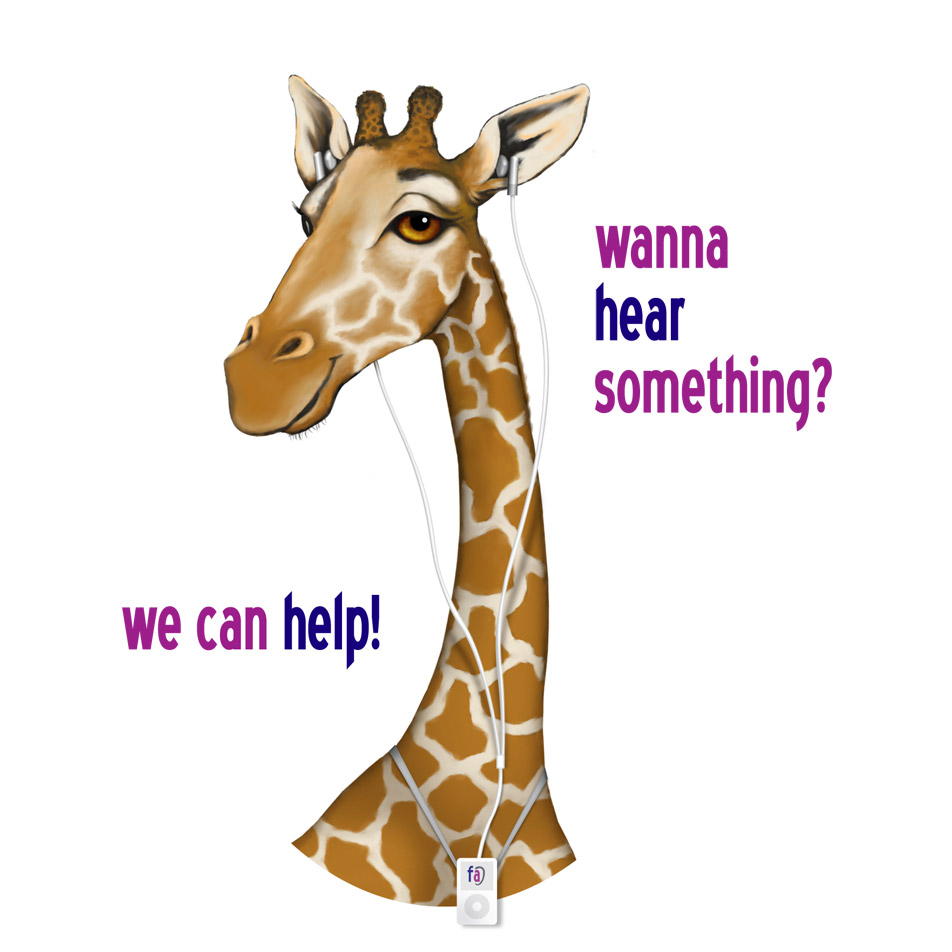 Giraffe Illustration for Family Audiology