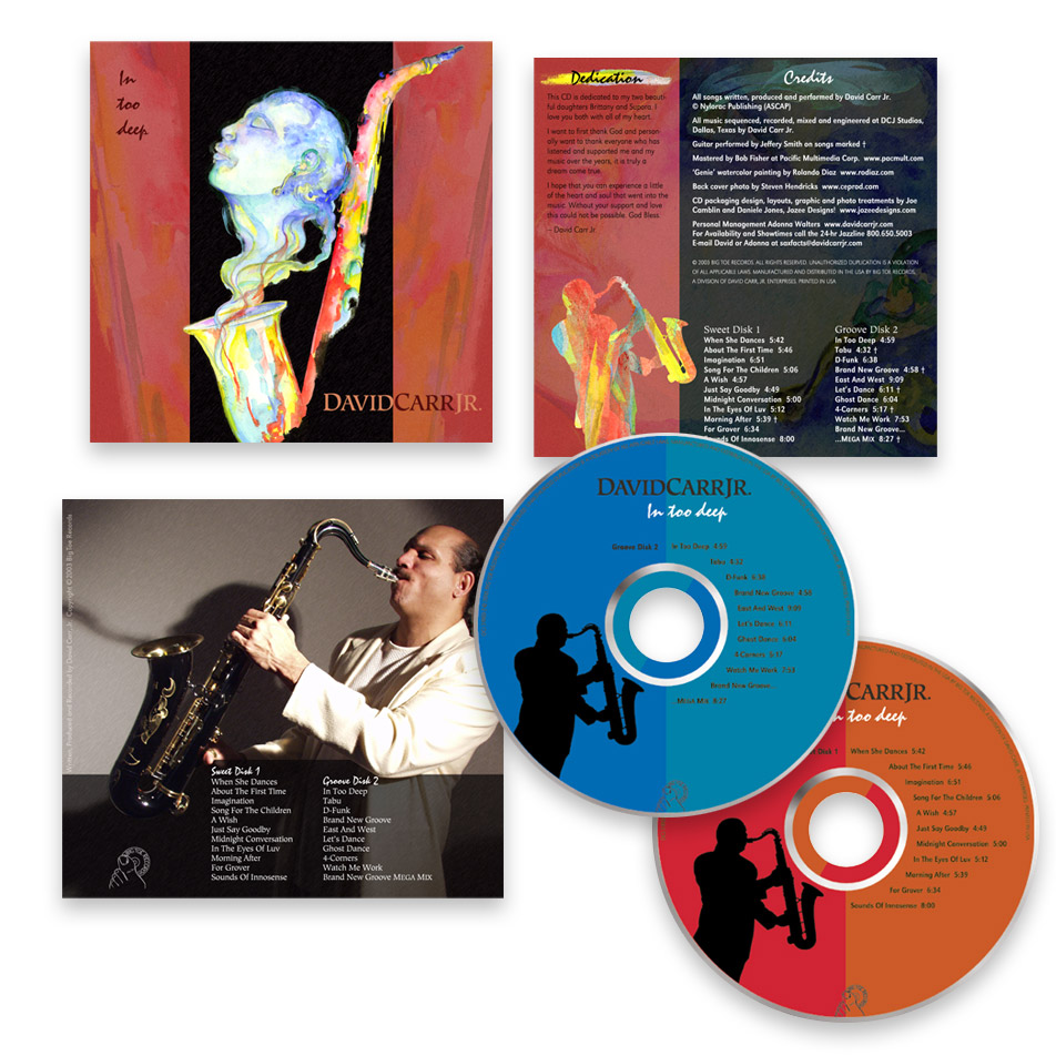 CD and package design for David Carr Jr.