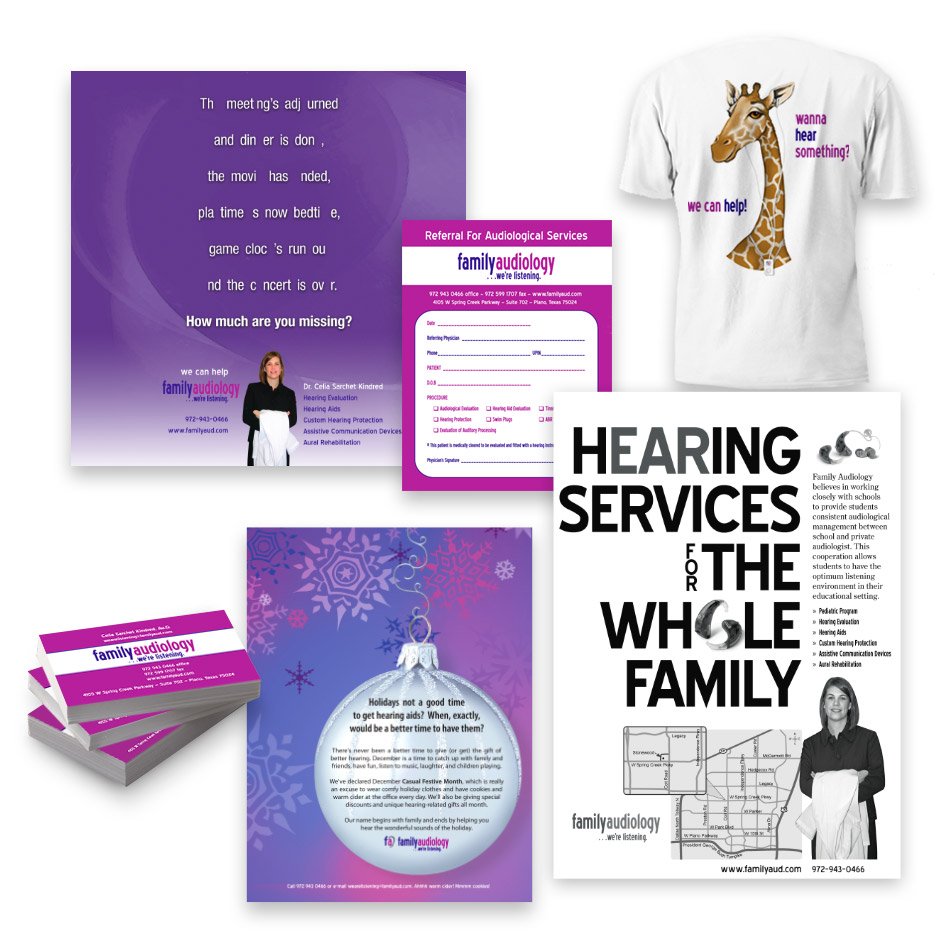 Print Design and identity for Family Audiology
