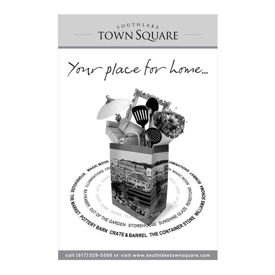 Newspaper ad for Southlake Town Square