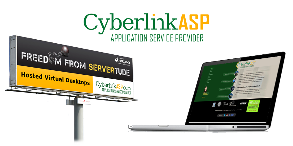 Web Design and Billboard Design for CyberlinkASP